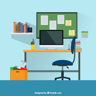 Graphic design workspace background