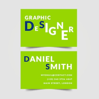Графический дизайнер визитка надписи