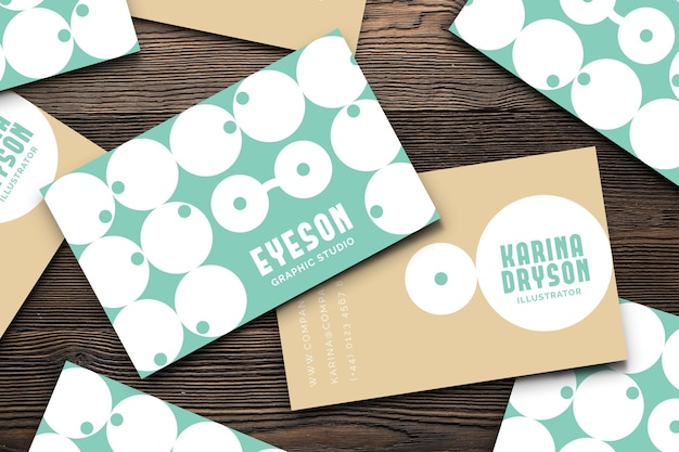 Graphic designer business card template in funny style