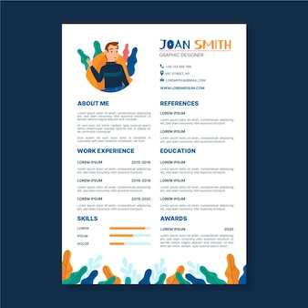 Graphic designer cv template illustrated
