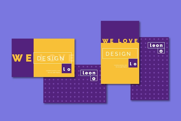Graphic designer funny business card template