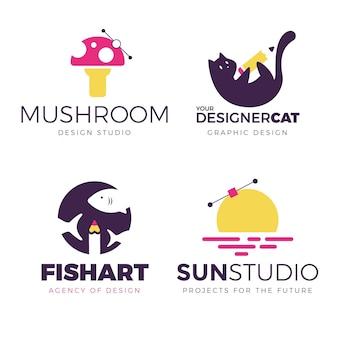 Graphic designer logo pack