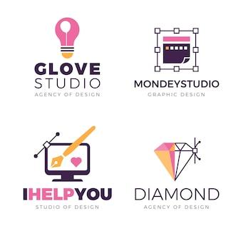 Пакет логотипов графического дизайнера