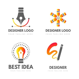 Graphic designer logo templates pack