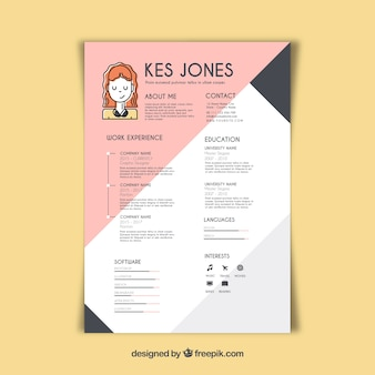 Graphic Design Resume Template Vectors Photos And Psd Files Free