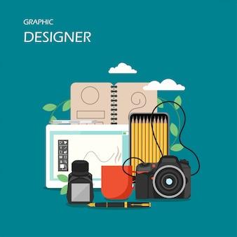 Графический дизайнер сцена