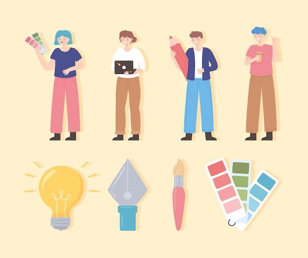 Команда графических дизайнеров