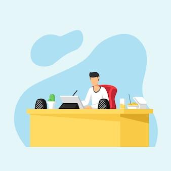 オフィススタジオでデジタルタブレットの描画に取り組んでいるグラフィックデザイナー