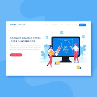 Graphic designers creative process landing page