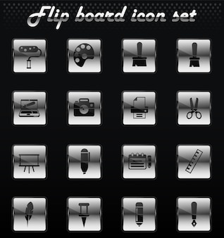 Graphic editor tools vector flip mechanical icons for user interface design