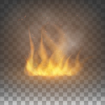 Graphic element with flame