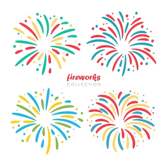 新年を祝うためのグラフィック花火のデザイン。