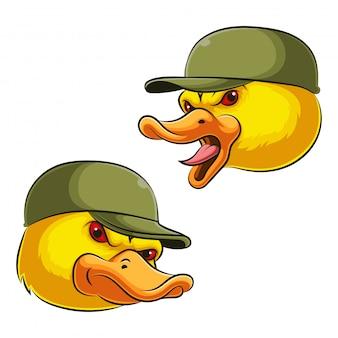 Иллюстрация головы талисмана утки