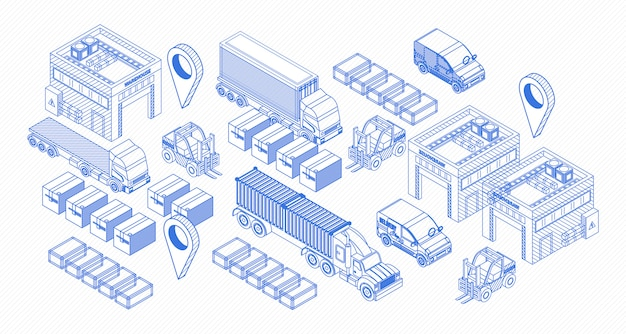 Graphic icons for delivery items