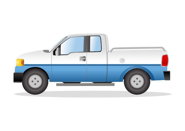 Graphic illustration of a pick up truck