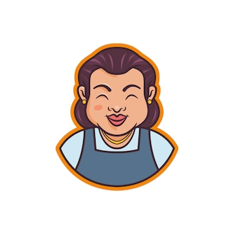 Graphic of the mascot of a grandmother illustration, perfect for logo, icon or mascot