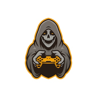 Graphic of mascot skull gamers illustration. perfect for logo, icon or mascot