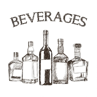 Graphic of sketch Beverages
