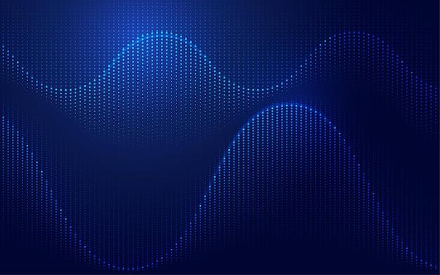 テクノロジースタイルで提示された波形のグラフィック