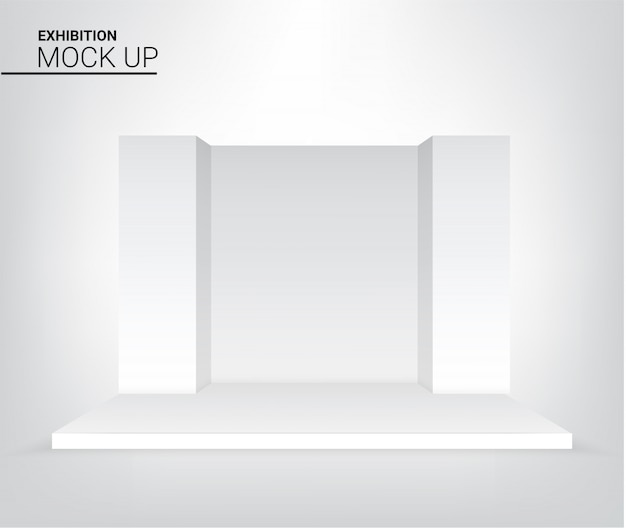Graphic  realistic stage podium for advertising, concert or presentation background illustration. event and exhibition concept design