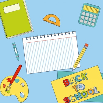 Graphic resources of back to school