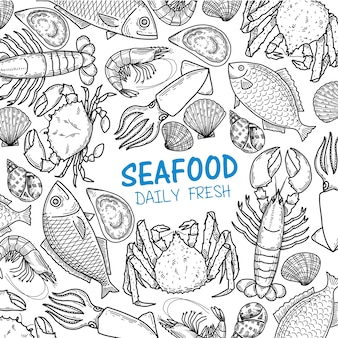 Graphic seafood