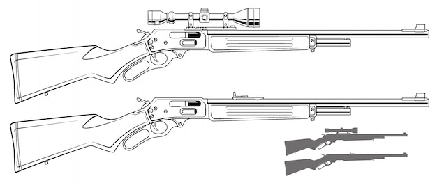 Graphic shotgun rifle with optical sight