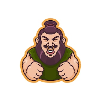 Graphic of strong human mascot illustration, perfect for logo,icon or mascot