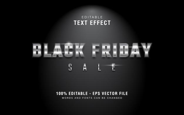 Графический стиль серебряный черная пятница продажа текста