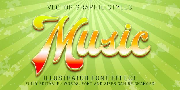 Graphic styles retro vintage 80s editable text effect