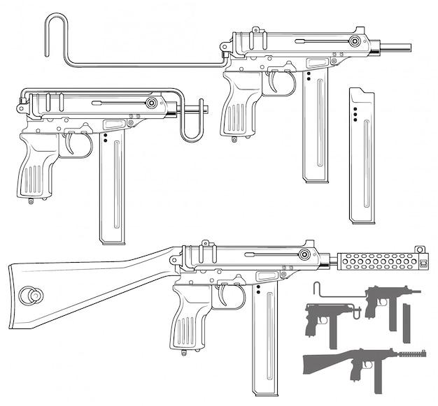 탄약 클립 그래픽 기관단총
