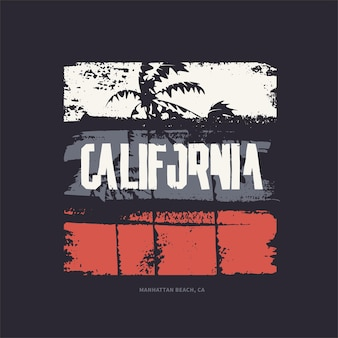 Graphic tshirt design on the topic of california vector illustration