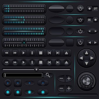 Graphic user interface vector elements collection