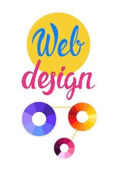 Graphic web design creative banner