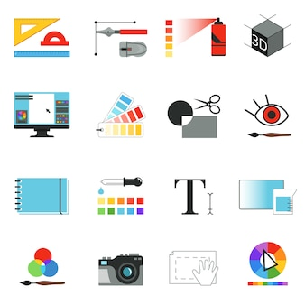 Graphic or web designers tools.