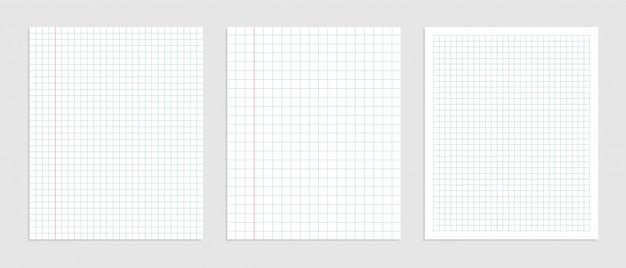 Graphical blank paper sheet set for data representation