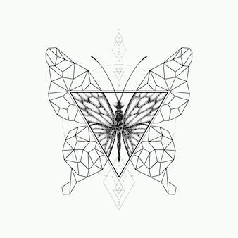 그래픽 나비 디자인.
