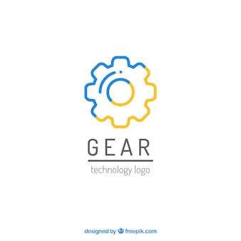 Graphics gear logo vector