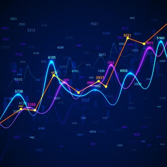 그래프 및 차트 통계 데이터. 재무 보고서 및 경제 다이어그램. 비즈니스 차트 및 그래프 인포 그래픽 요소. 삽화