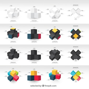 Graphs with cubes