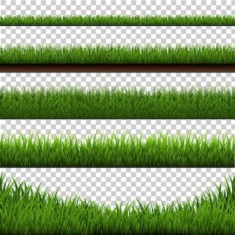 Большой набор границы травы