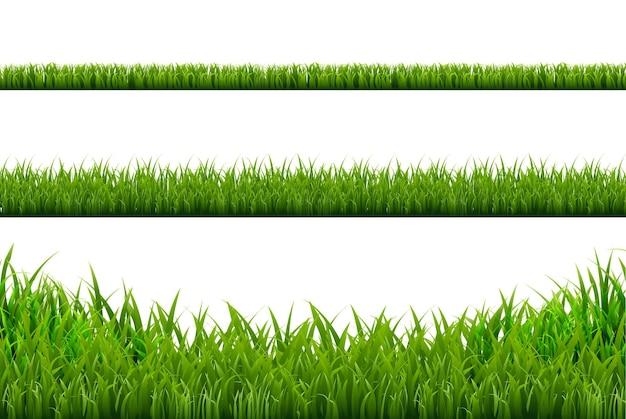 Границы травы набор иллюстрации