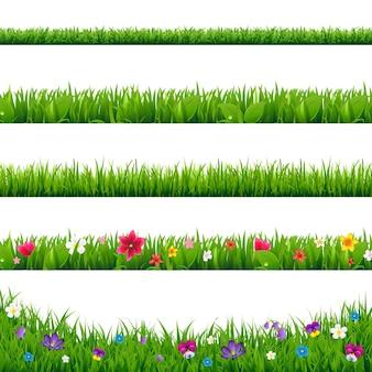 Набор границ травы