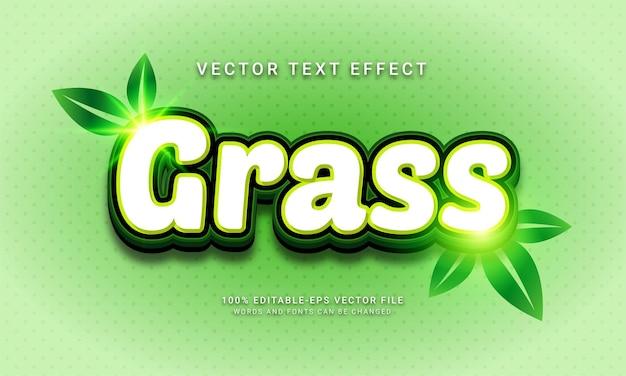 Grass editable text effect themed natural fresh