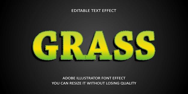 Grass editable text effect