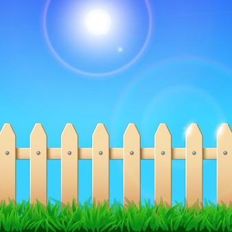 Grass fence sky