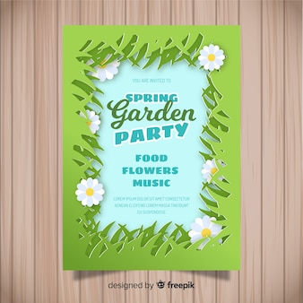 Grass frame spring party poster