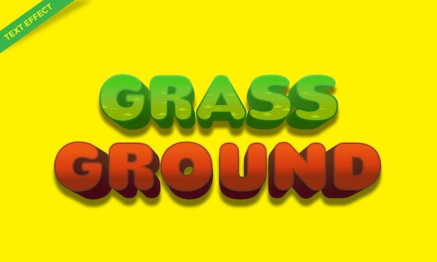 Grass and ground text effect design