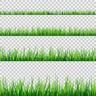 Шаблон бесшовные поле трава, изолированные на белом. v
