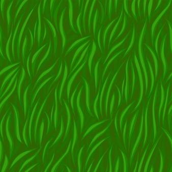 草のシームレスなパターン、テクスチャ緑の草の波uiゲーム。イラスト春の有機的な背景
